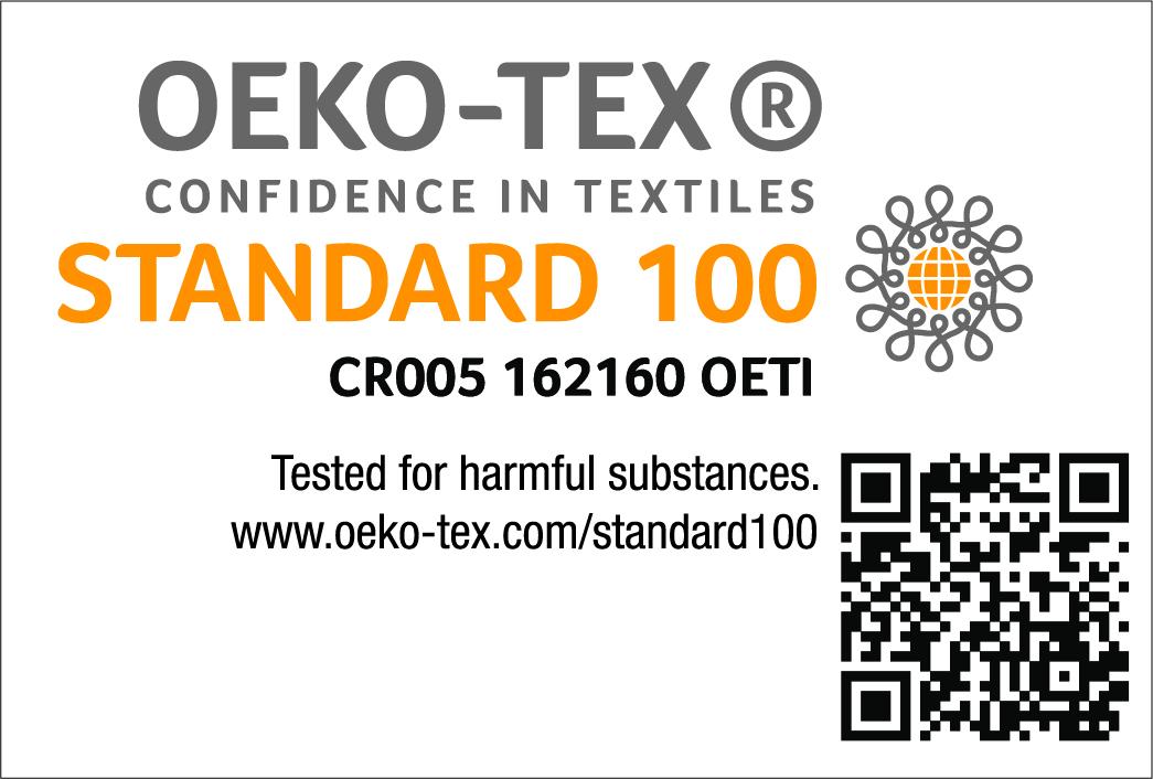 OEKO-TEX® 100 Certified
